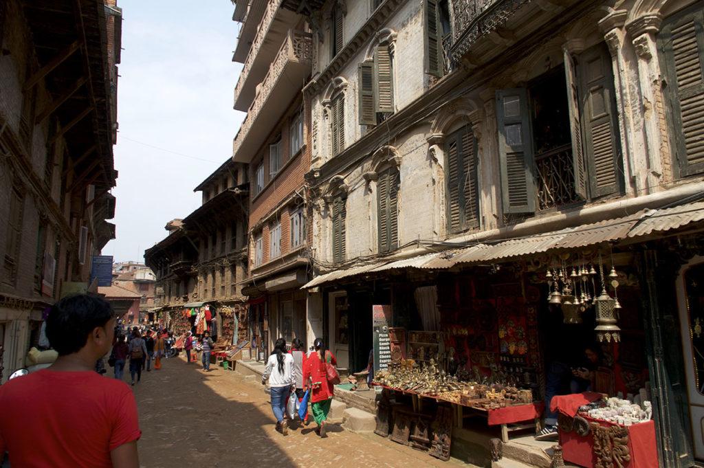Rue principale de Bhaktapur