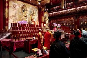 Cérémonie au Buddha Tooth Relic Temple