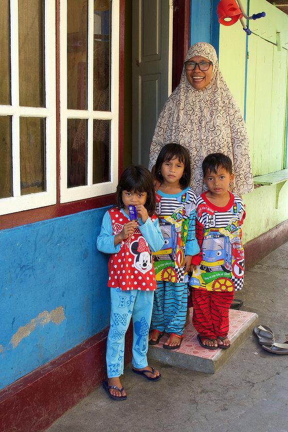 Bandaneira,Banda,Moluques,famille