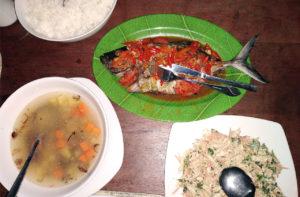 Pulau Ai, Moluques,iles Banda,diner