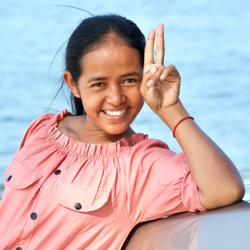 Joli sourire khmer