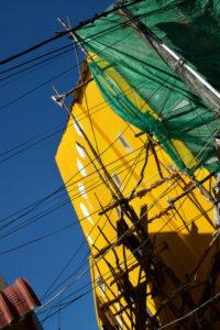 Travaux de façade dans la ville de Kampot