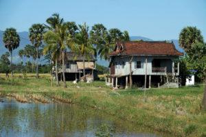 Maison cambodgienne dans les environs de Kampot