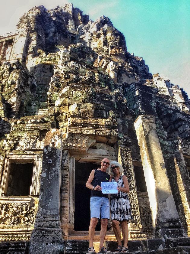 3000e jour de voyage d4alain et Chantal Diveu