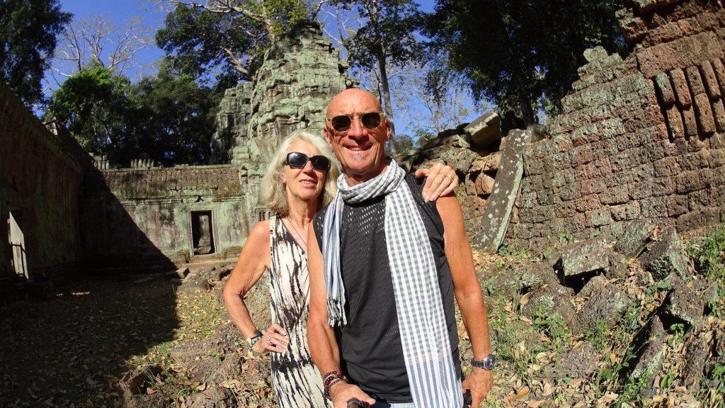 Alain et Chantal dans le Ta Prohm