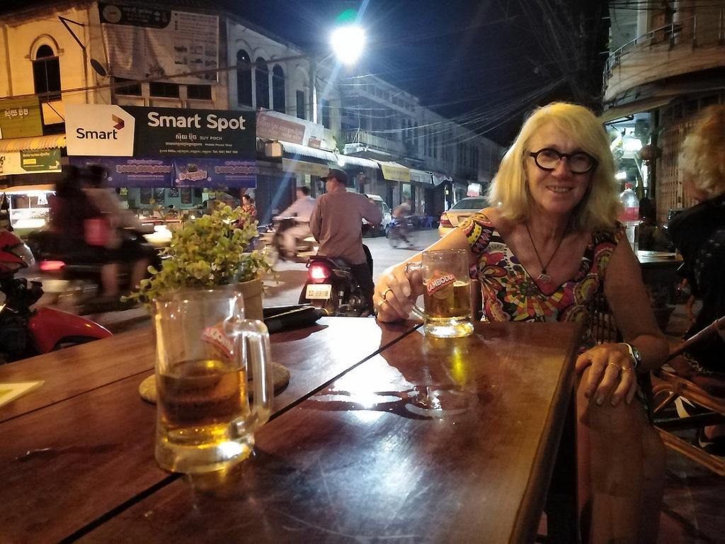 Chantal dans notre bar fétiche