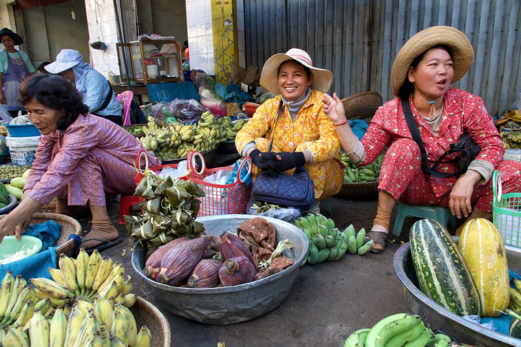 Sur le marché de Kratie