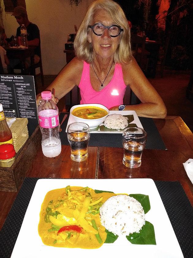 Chantal Diveu au Madam Moch de Siem Reap