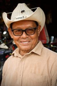 Sur un petit marché près de Siem Reap