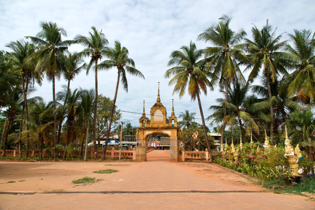 Une entrée de temple près de Siem Reap