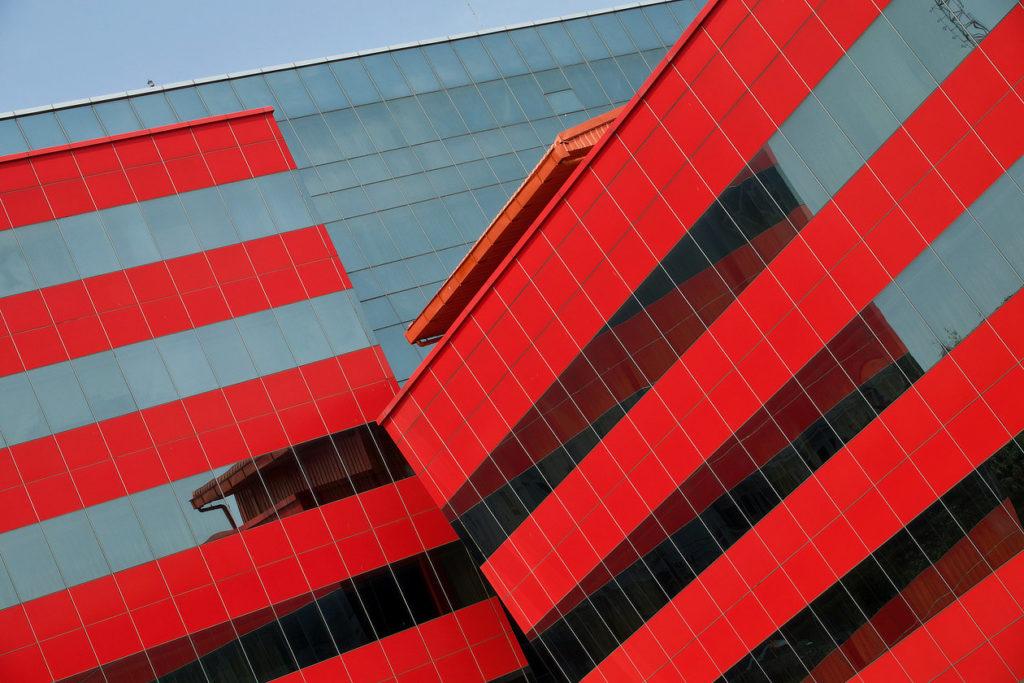 Bâtiment coloré de Lao Telecom