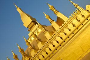 Le That Luang en fin de journée
