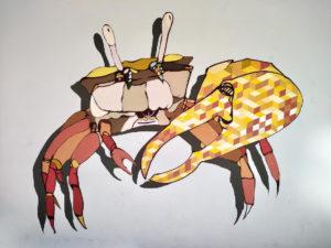 Le crabe de Krabi façon Street Art