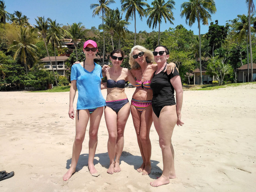 Chantal et les copines à Ko Lanta