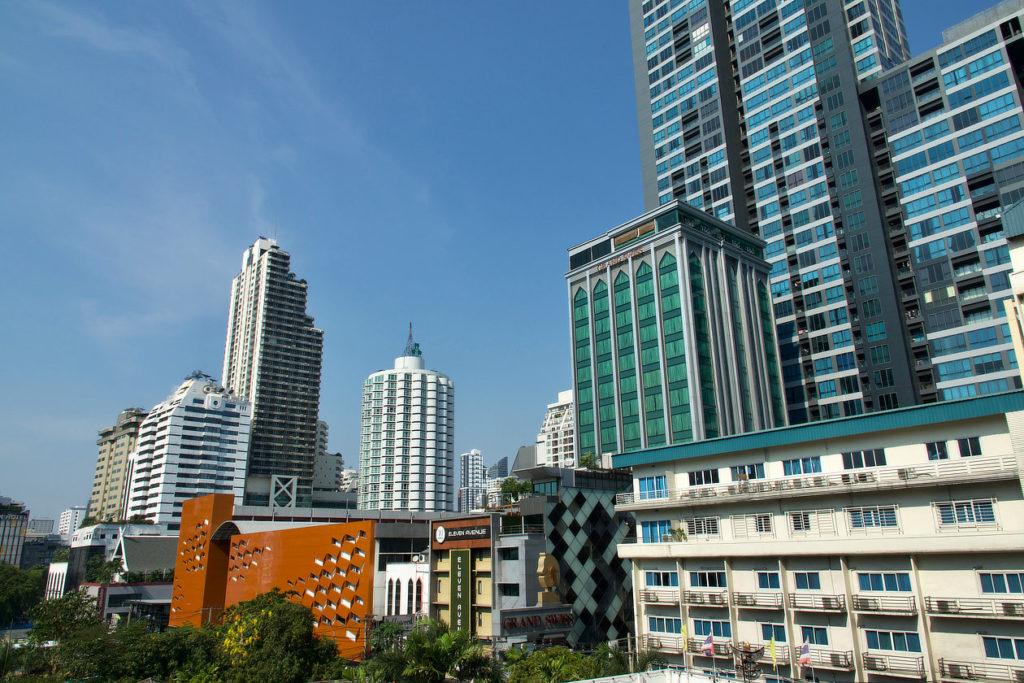 Vue depuis notre chambre de Bangkok © Alain Diveu
